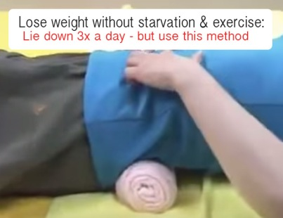 weight loss pain when lying down